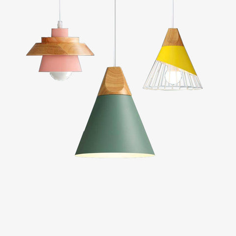 Suspension scandinave cage en couleurs