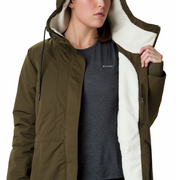 Women's South Canyon Sherpa Lined Jacket Olive Green - booley