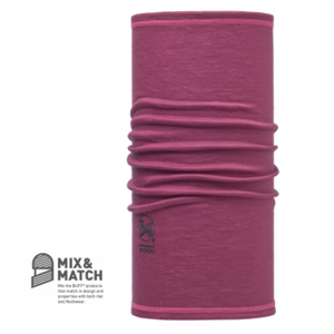 3/4 Merino Wool Buff Pomegranate