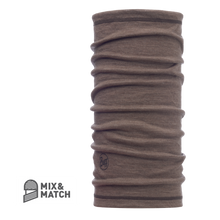 3/4 Merino Wool Buff Solid Walnut Brown