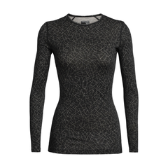 Women's 200 Oasis L/S Crewe Sky Paths Black - Call of the Wild Galway