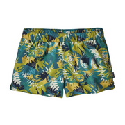 Women's Barely Baggies Shorts: Wild Waratah: Tasmanian Teal