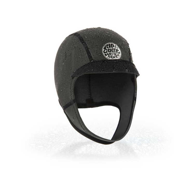 Dawn Patrol 2mm Surf Cap Black - booley Galway