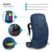 Kestrel 58L overview of features