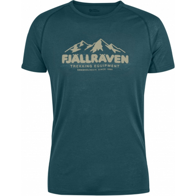 Men's Abisko Trail T-Shirt Mountain Print Glacier Green