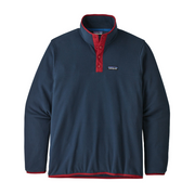 Men's Micro D Snap-T Pullover New Navy / Classic Red - booley Galway