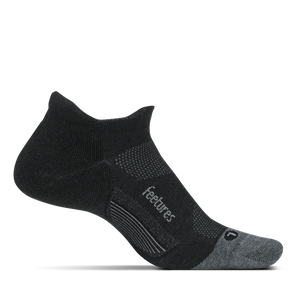 Merino 10 Light Cushion No Show Tab Charcoal