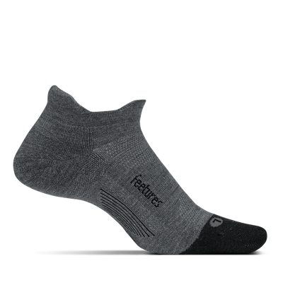 Merino 10 Light Cushion No Show Tab Grey