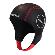 Neoprene Swim Cap Black / Red - Call of the Wild Galway