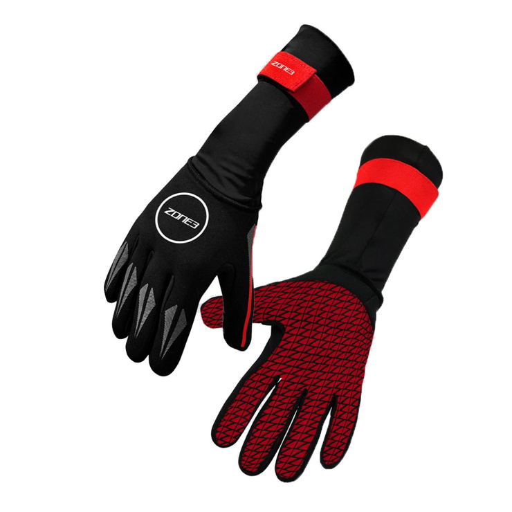 Neoprene Swim Gloves Black / Red - booley
