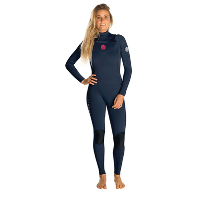 Women's Dawn Patrol 4/3GB Chest Zip Steamer Navy - Call of the Wild