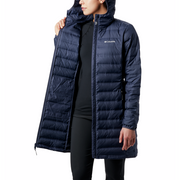 Women's Lake 22 Down Long Hooded Jacket Nocturnal - booley
