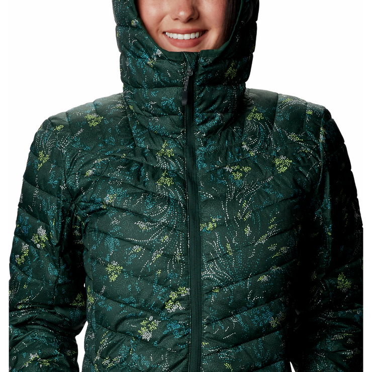 Women's Windgates Hooded Jacket Spruce Dotty Floral Print - booley