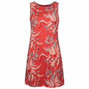 Columbia Women's Chill River Printed Dress Bright Poppy Magnolia Print - booley