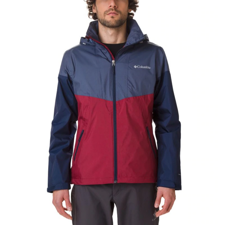Men's Inner Limits Jacket Red Jasper Dark Mountain Collegiate Navy - booley