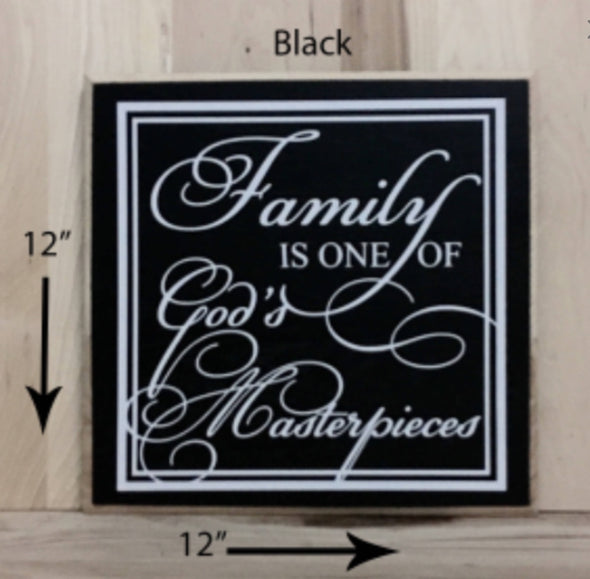 Family Wooden Sign, Religious Wood Sign, Family Sign