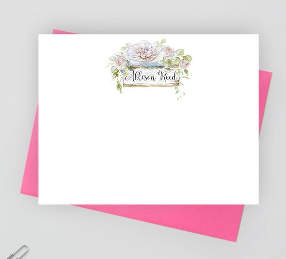 Flower stationery set for women, floral notecards