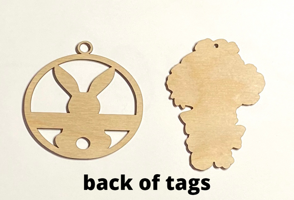 Easter basket wood tags