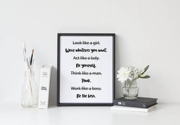 Be the boss girl boss wall art print.