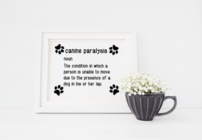 Funny dog wall art decor for dog lover art print.