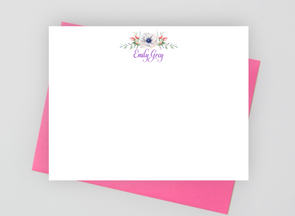floral stationery set for women
