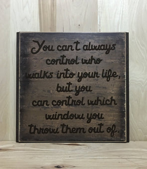 Sarcastic custom wood sign, funny wooden sign