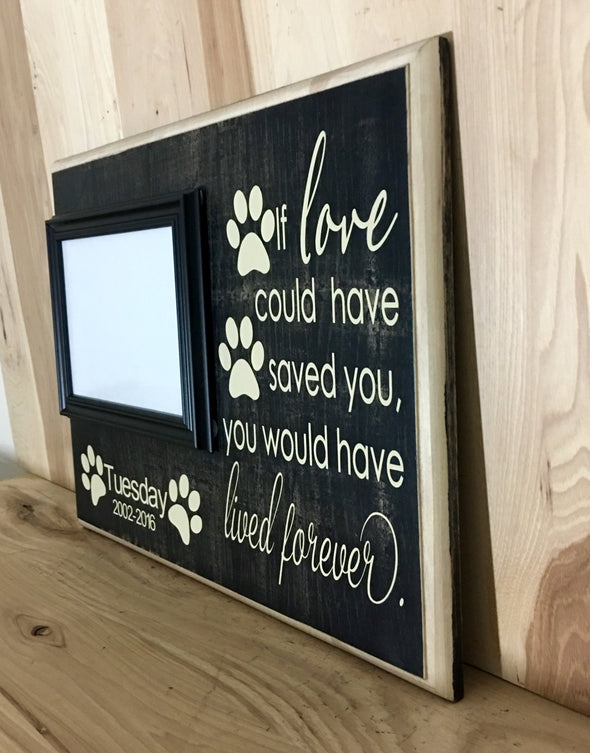 12x16 distressed black dog memorial sign.