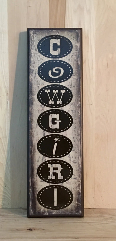 Kids wall decor western sign