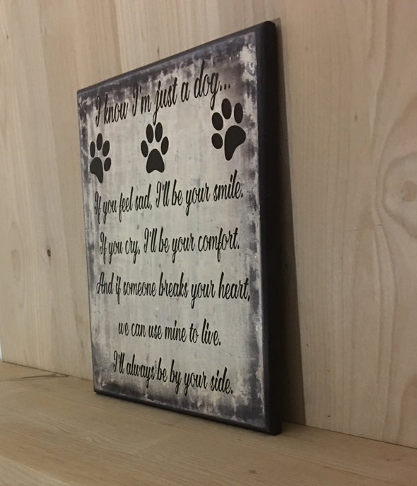 Dog wood sign for dog mom or dog dad.