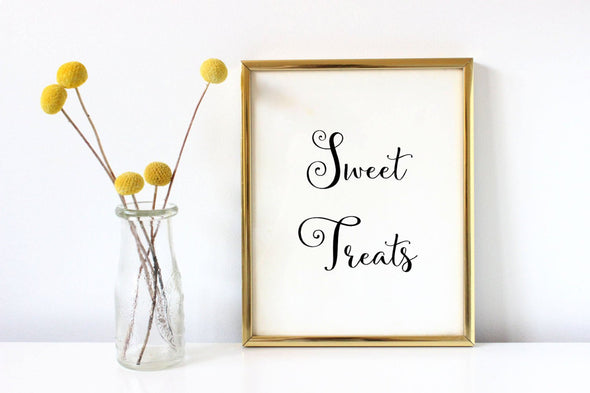Sweet treats art print for wedding decor digital download.