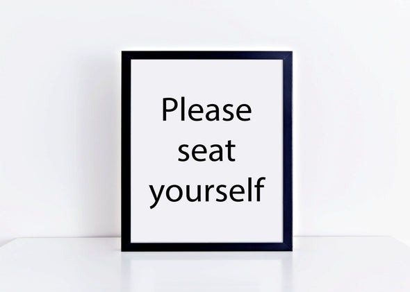 Please seat yourself funny bathroom art print download.