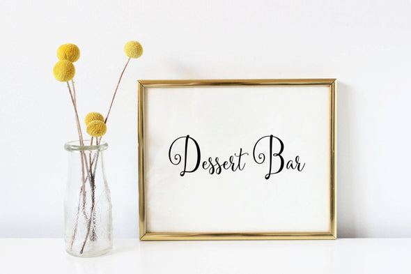 Digital download desert bar art print for weddings.