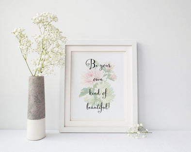 Be your own kind of beuatiful wall art decor with flower image.