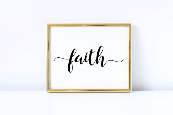 Digital download faith religious wall art decor.