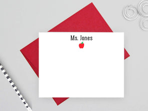 Apple design personalized note cards for teachers.