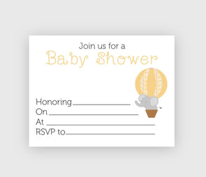 Digital download gender neutral baby showewr invitation