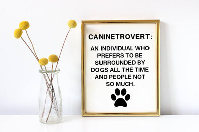 Funny definition dog art print for dog lovers.