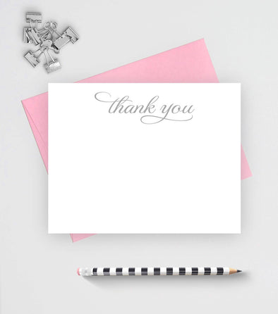 Thank you set of note cards with flourish are great for wedding thank yous.