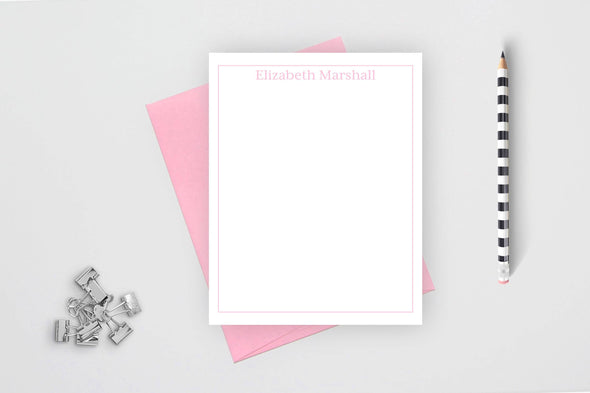 Formal personalized stationery set with candy envelope.