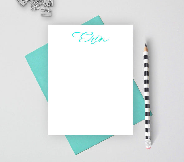 Calligraphy personalized note cards.