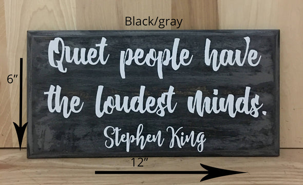 12x6 black/gray Stephen King Wood sign with white lettering