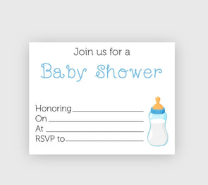 Digital download baby shower invitation baby bottle theme