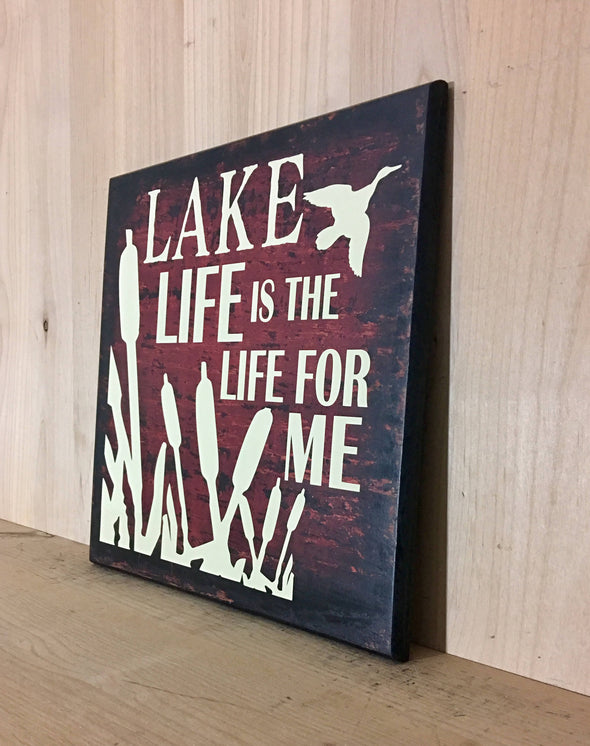 Wooden sign for cabin decor by the lake or man cave.