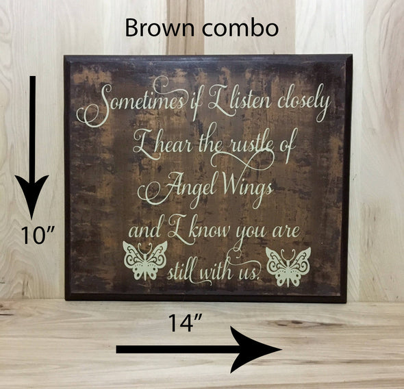 10x14 brown combo memorial sign with cream lettering.
