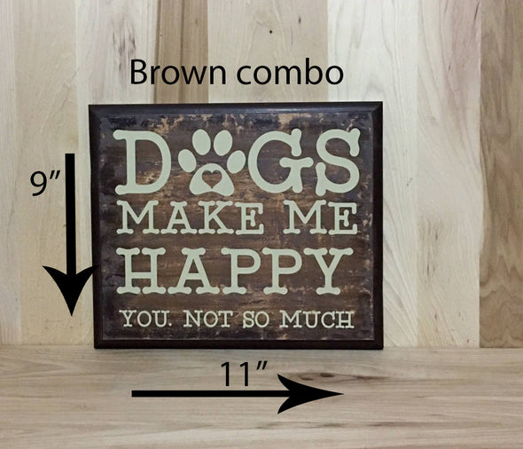 11x9 brown combo custom dog wooden sign.