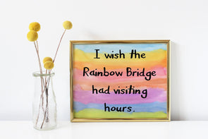 Rainbow bridge art print for the loss of a pet digital download.