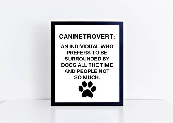 Art print for dog lover with funny definition.