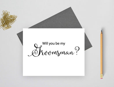 Will you be my groomsman wedding card.