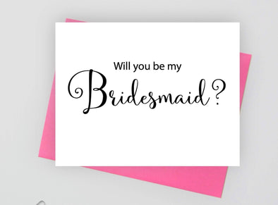 Will you be my bridesmaid wedding card.
