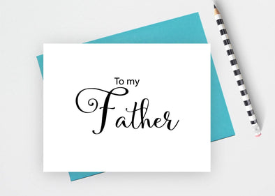 To my father wedding card.